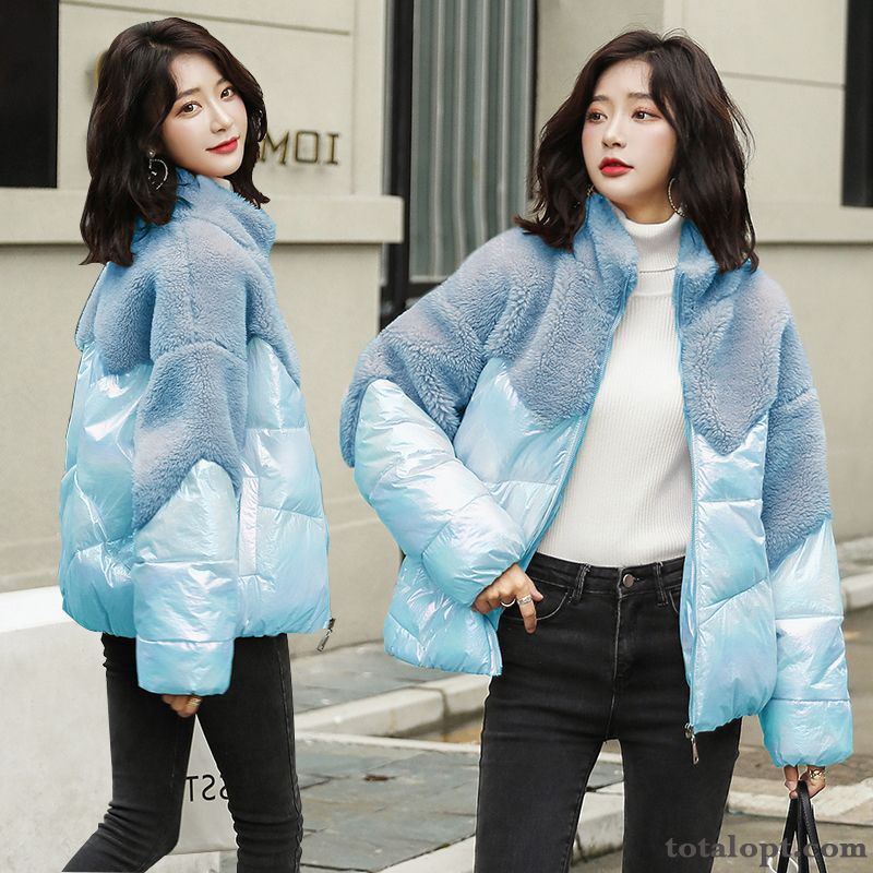 Personality Cotton Warm All-match Blue Elegant Temperament Mixed Colors Fashion Pansy Salmon Pink Online