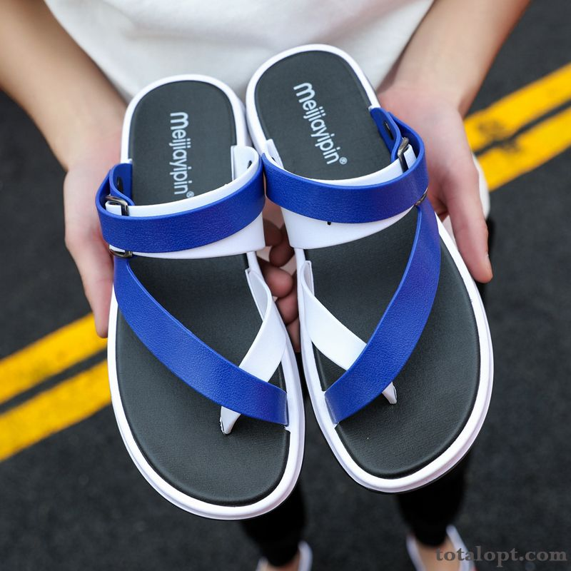 Personality Summer Causal Shoes Sandals Trend Flip Flops Outwear Men's New Blue Driving Pure White Yellow
