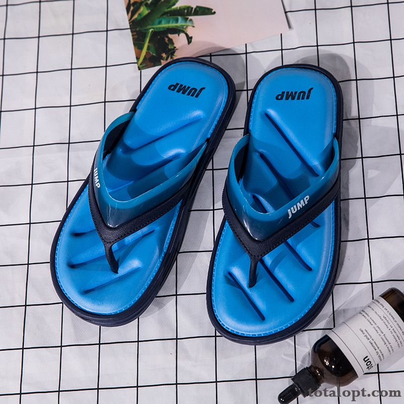 Personality Trend Outwear Slippers New Men's Flip Flops Beach Fashion Blue Summer Anti-skid Deep Yellow Navy