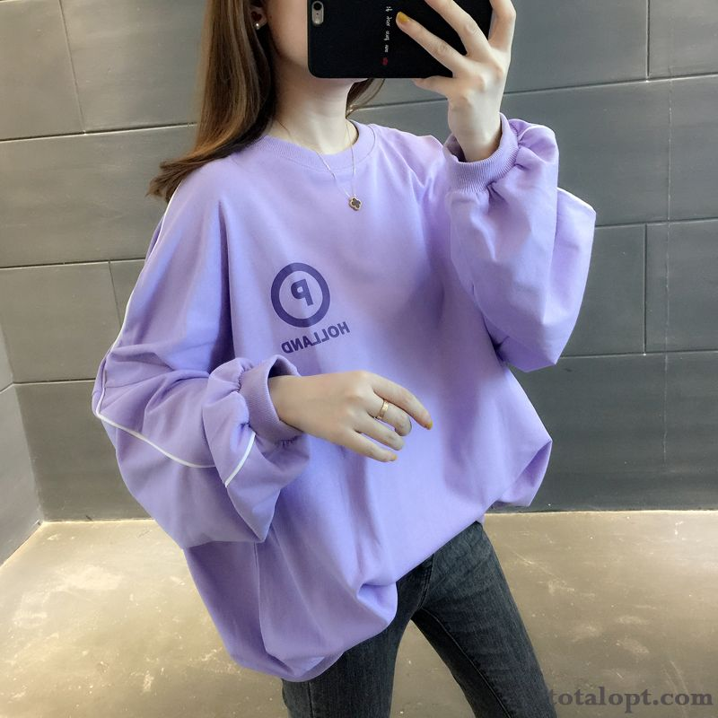 Skinny Large Size Women's New Hoodies Coat Purple Red Autumn Fat Trend Loose Black Salmon