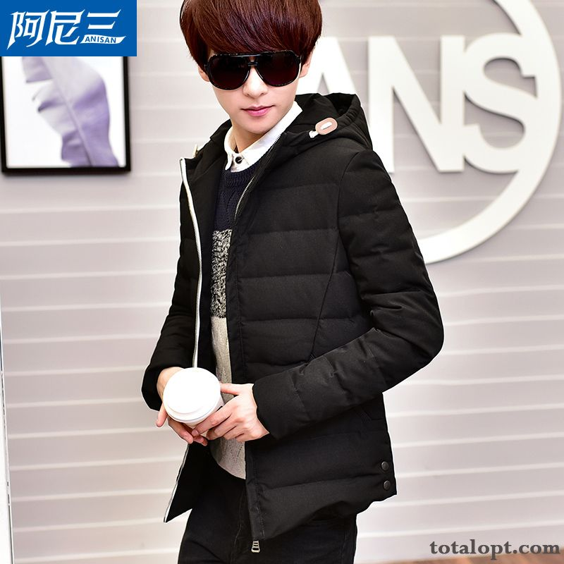 Slim New Short Men's Light Trend Coat Down Jacket Europe Student Winter Lake Azure Discount