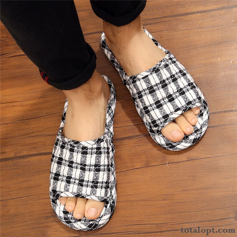 Slippers Black All Seasons Home Indoor Summer Soft Sole Ivory White Iris