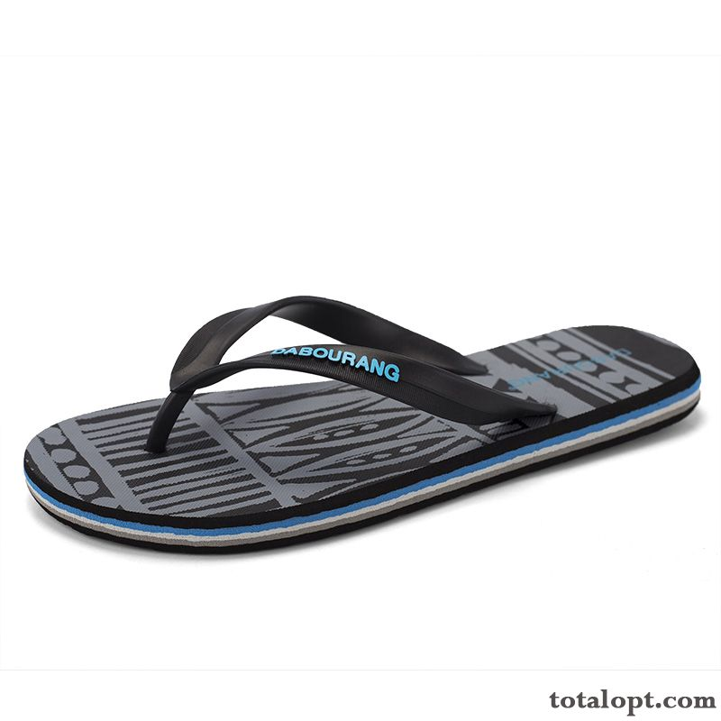 Slippers Flip Flops New Fashion Anti-skid Outwear Trend Black Summer Beach Men's Brown Chocolate Discount