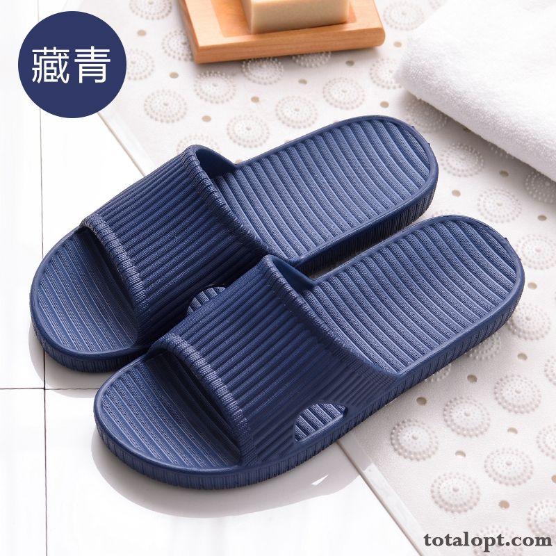 Soft Sole Slippers Indoor Lovers Summer Men's Anti-skid Bathroom Home Palegreen Saddlebrown