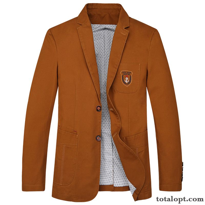Spring Autumn Jacket Europe Blazer Coat Suit Men's Slim Leisure England Breen Plum Sale