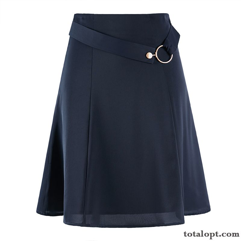 Spring Long Section Black Short Skirts Women's New Chiffon Fashion A Letter Professional Summer Yellowgreen Darkgreen