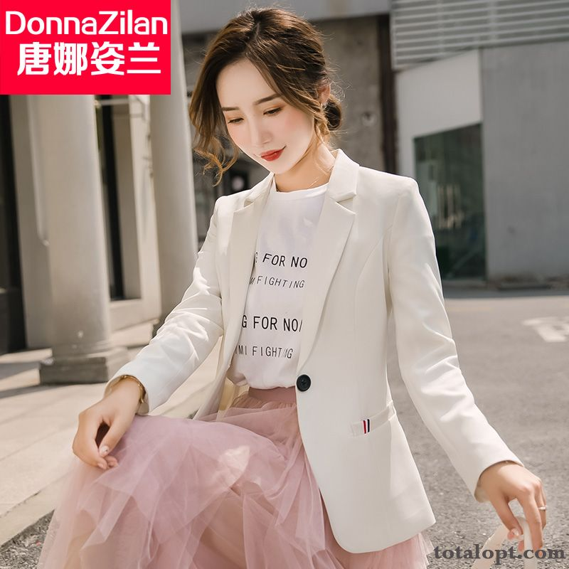 Suit All-match Autumn Europe Short Slim Women's Red Coat Leisure New Blazer Lady White Spring Modena Grape