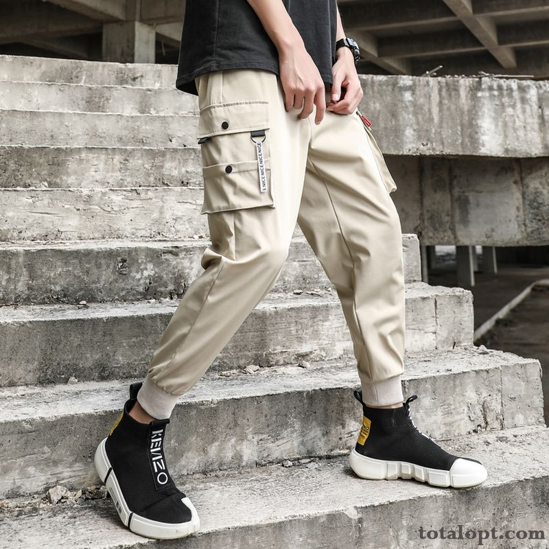 Tooling Leisure Trend Europe Trousers Men's Spring Pants Straight All-match Coffee Turquoise Sale