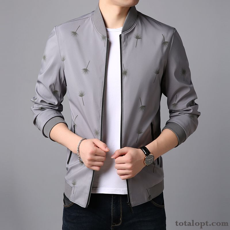 Trend Leisure Coat Jacket Autumn Men's Spring Gray New Skinny Blue Green Coffee Online