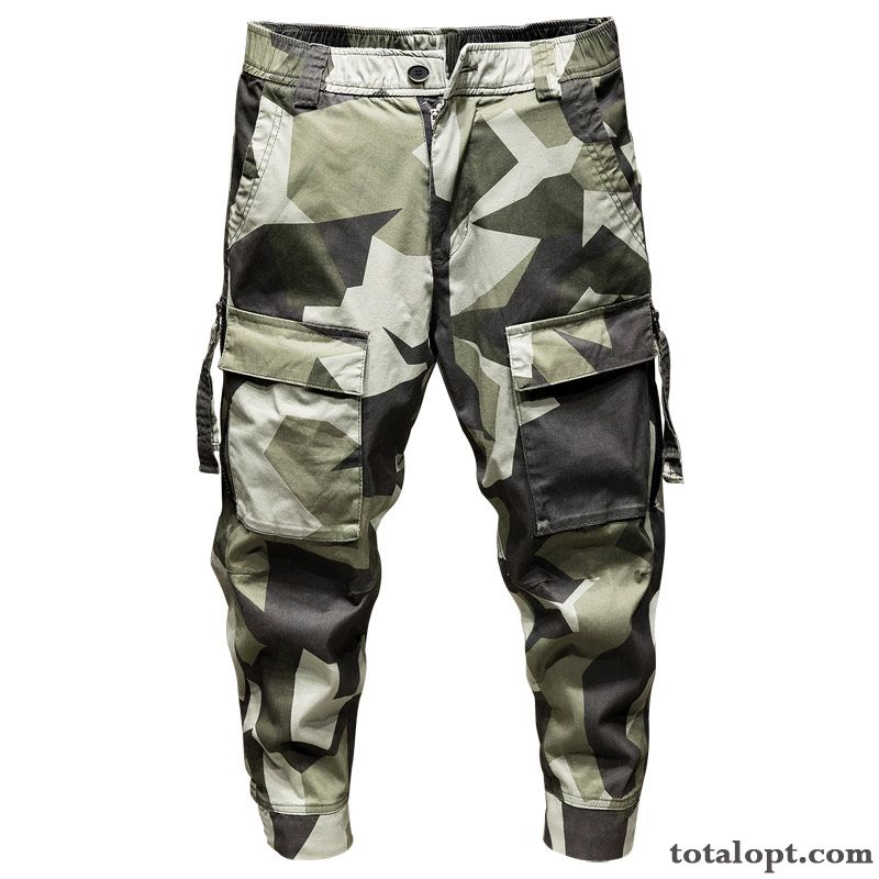 Trend Pants Men's Loose Camouflage Leisure Skinny Tooling Summer Azure Earth Yellow Discount