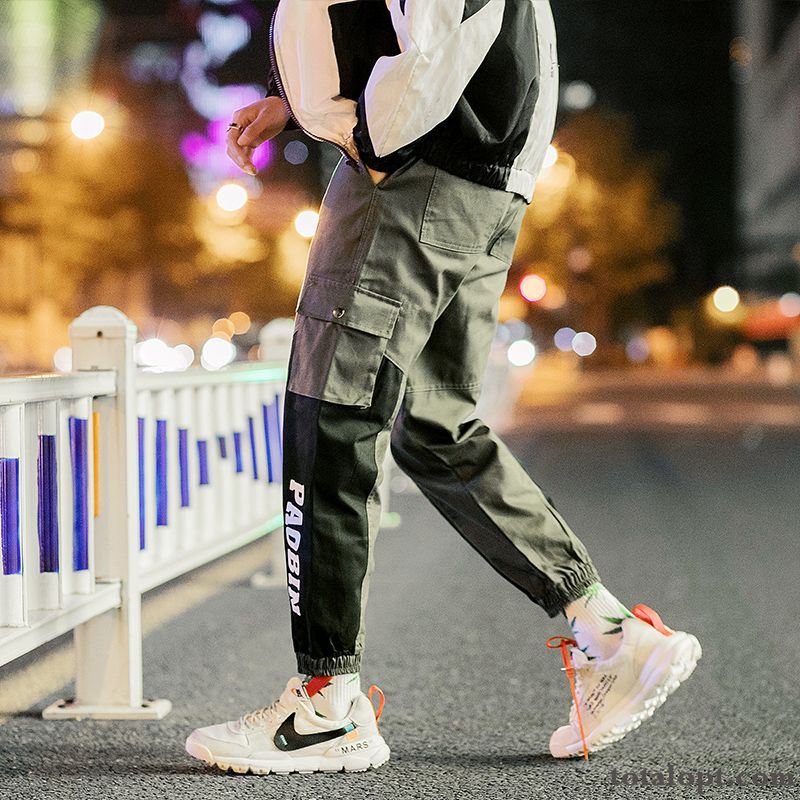 Trend Pants Military Green Winter New Tooling Europe Autumn Splicing Men's Harlan Palegreen Ivory White Online
