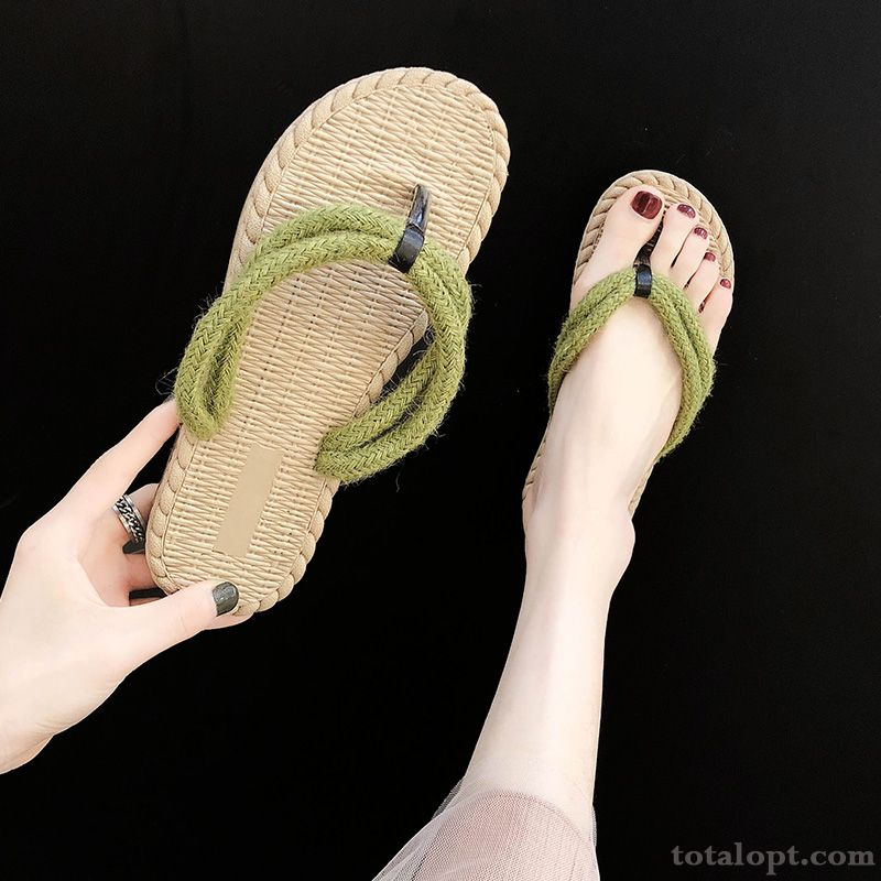 Trend Summer Women All-match Weaving New Beach Sallow Sandy Beige For Sale
