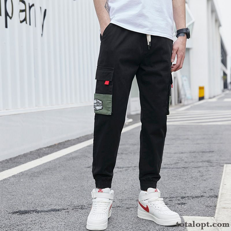 Trousers Black Trend Leisure Pants Thick Men's Tooling Autumn Loose Harlan Azure Chocolate