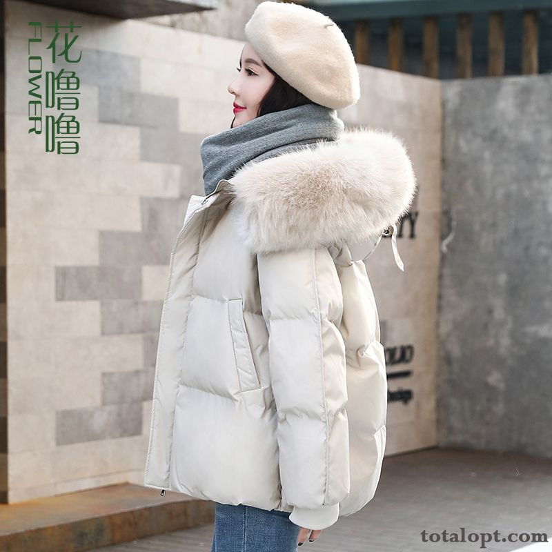Winter Clothes White Women's Europe Short Hot Style Cotton Cotton-padded New Coat Loose Grey Black Purplish Red