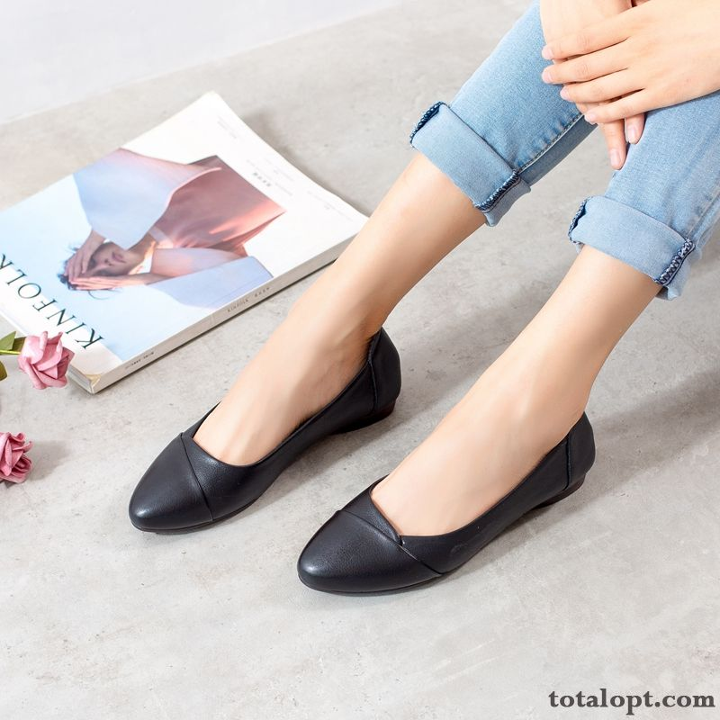 Women New Genuine Leather Autumn Soft Spring All-match Mom Soft Skin Black Palegreen Pitch-dark For Sale