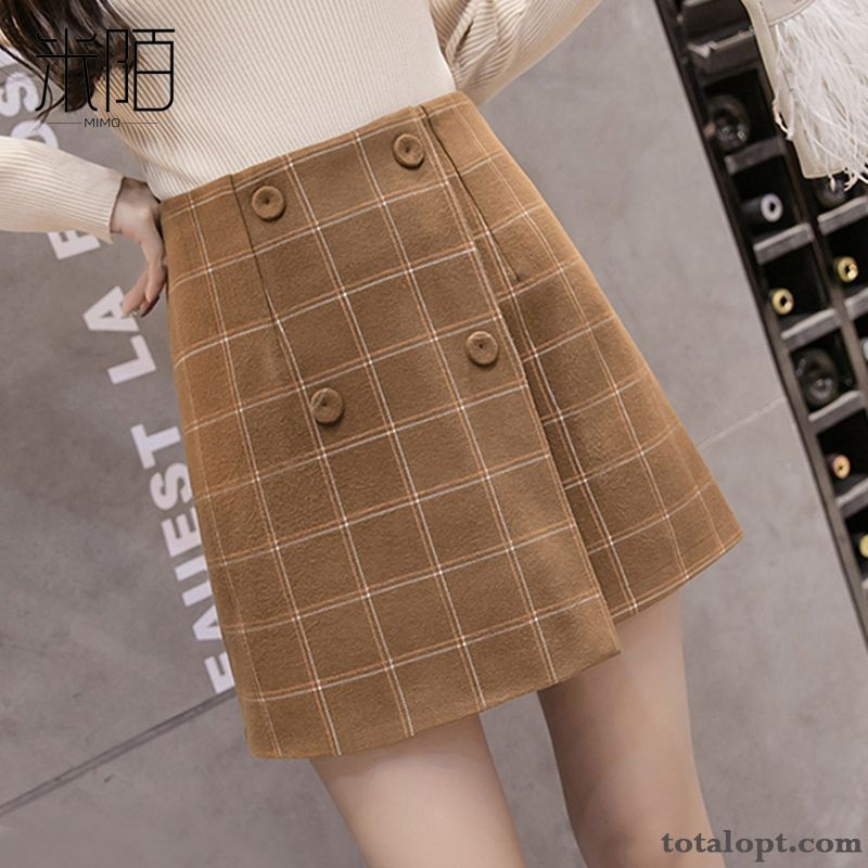 Women's New Autumn Winter Short Skirts A Letter Spring Woolen Summer Smoky Gray Ultramarine Online